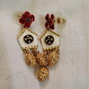 Kate spade cuckoo clock earrings